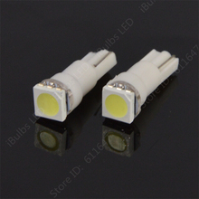 10pcs Big Promotion T5 74 1 SMD 5050 LED light Car Auto Light Source Interior Dashboard Bulb Lamps DC12V