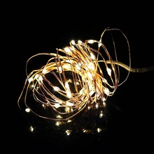 Copper Led String Lights 300CM 30Leds with Battery Box Waterproof Wedding Chirstmas Party Home decor light UW