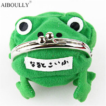 2017 Anime Cartoon  Frog Wallet  Coin Originality Fashion Frog Wallet  Naruto Purse Plush toys