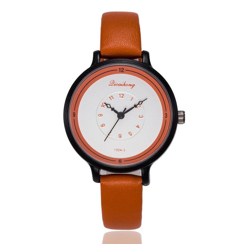 2018 High Quality women fashion casual watch luxury dress ladies Leather Band Analog Quartz Wrist Watch Clock relogio J13#N (3)