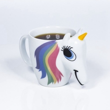 9PCS 300ML 3D Color Changing Ceramic Mug Temperature Unicorn Coffee Tea Milk Hot Water Cup Drinkware Colour Novetly(China)