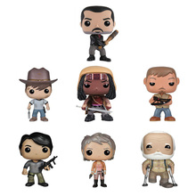 New The Walking Dead MovieToys DARYL DIXON NEGAN CARL GLENN MICHNNE RICK Action Figure Bobble Head Q Edition For Car Decoration(China)