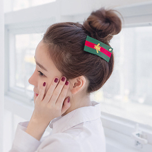 0348 Newest style supplier 2pcs/lot china women plaid hair clip great hair ornament