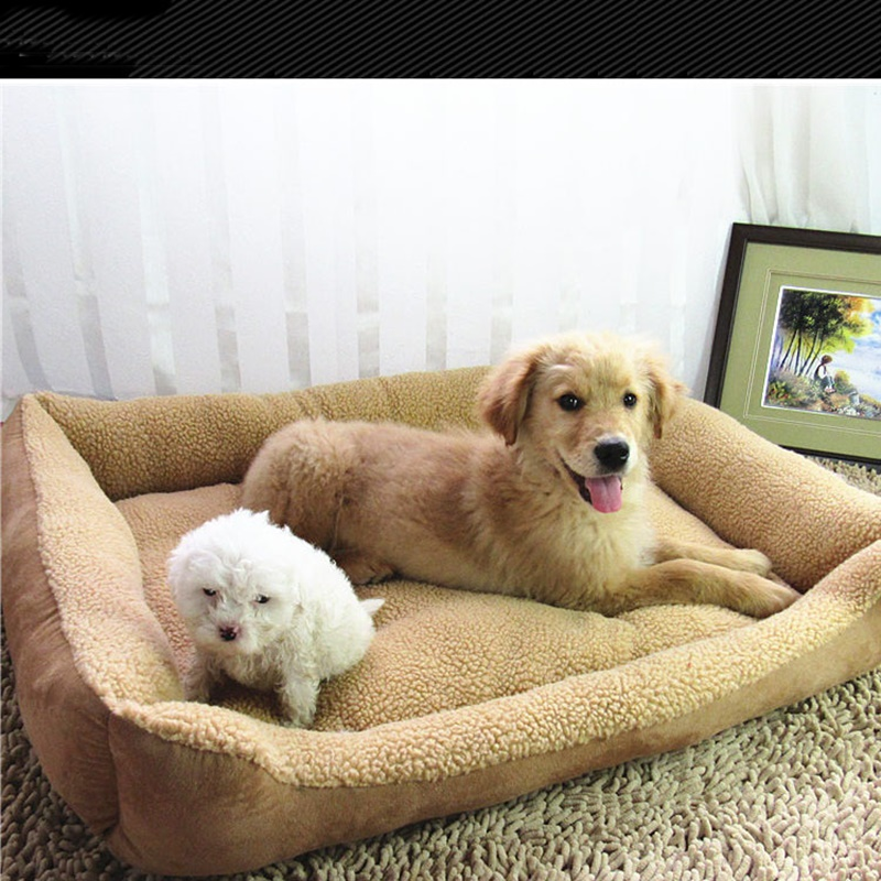 Image Pet Bed Cushion Mat Pad Dog Cat Cage Kennel Crate Warm Cozy Soft Pad