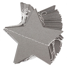 4M Star Shape Cardboard Pearl Paper Wedding Party Holiday Celebration Home Charm Garland Hanging Ornament Props DIY Decoration
