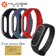 Original Mijobs Straps For Xiaomi Mi Band 2 Colorful Silicone Wrist Strap For Mi Band 2 Replacement Wristband Accessories