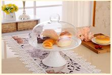 Ceramic cake plate of fruit tray west pastries frame cover glass dust cover afternoon tea sweet