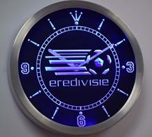 nc1023 Eredivisie Dutch Holland Netherlands Football Neon Sign LED Wall Clock