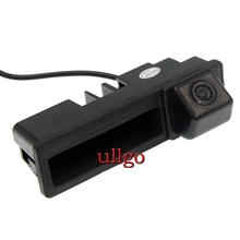 CCD Handle Rearview Camera for Audi A6L Q7 A3 A4 Reverse Trunk handle camera Waterproof HD Night vision Parking line display
