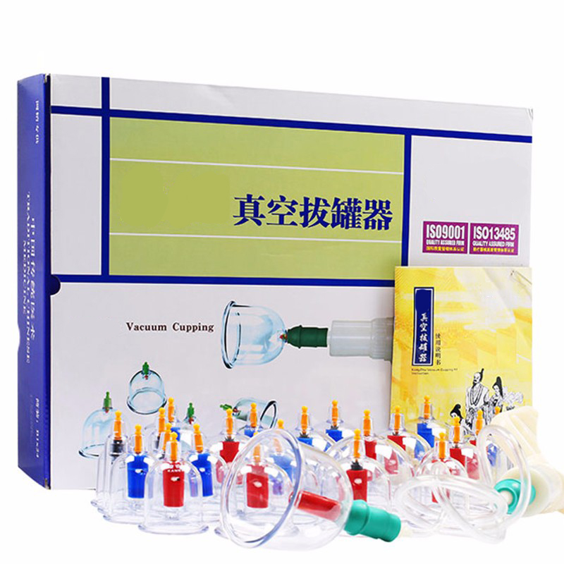 Free Shipping Chinese Kangzhu Vacuum Cupping Kit 24Pcs Cupping Cans Chinese Acupuncture Massage Suction Cup Health Massage<br>