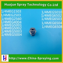 "1/4"" MEG high pressure washing flat fan water spray nozzle,road sweeper spray nozzle,VeeJet spray nozzle"