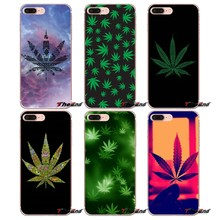 Чехол Smoke Weed Pot Leaf атаки Art Дизайн для iPhone X 4 4S 5 5S 5C SE 6 6 S 7 8 плюс Samsung Galaxy J1 J3 J5 J7 A3 A5 2016 2017(China)