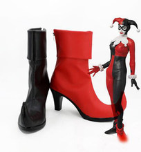 ef2138902ca Batman Cosplay Batman Harley Quinn Cosplay Shoes Boots Movie Halloween  Party Boots for Adult Women High Heel Shoes Accessories