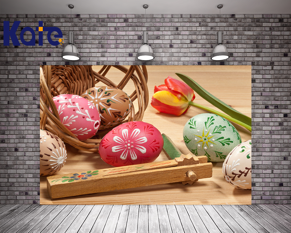 200Cm*150Cm Easter Photography Backdrops Tulips Egg Basket Photography Background Easter Sunday Zj<br>