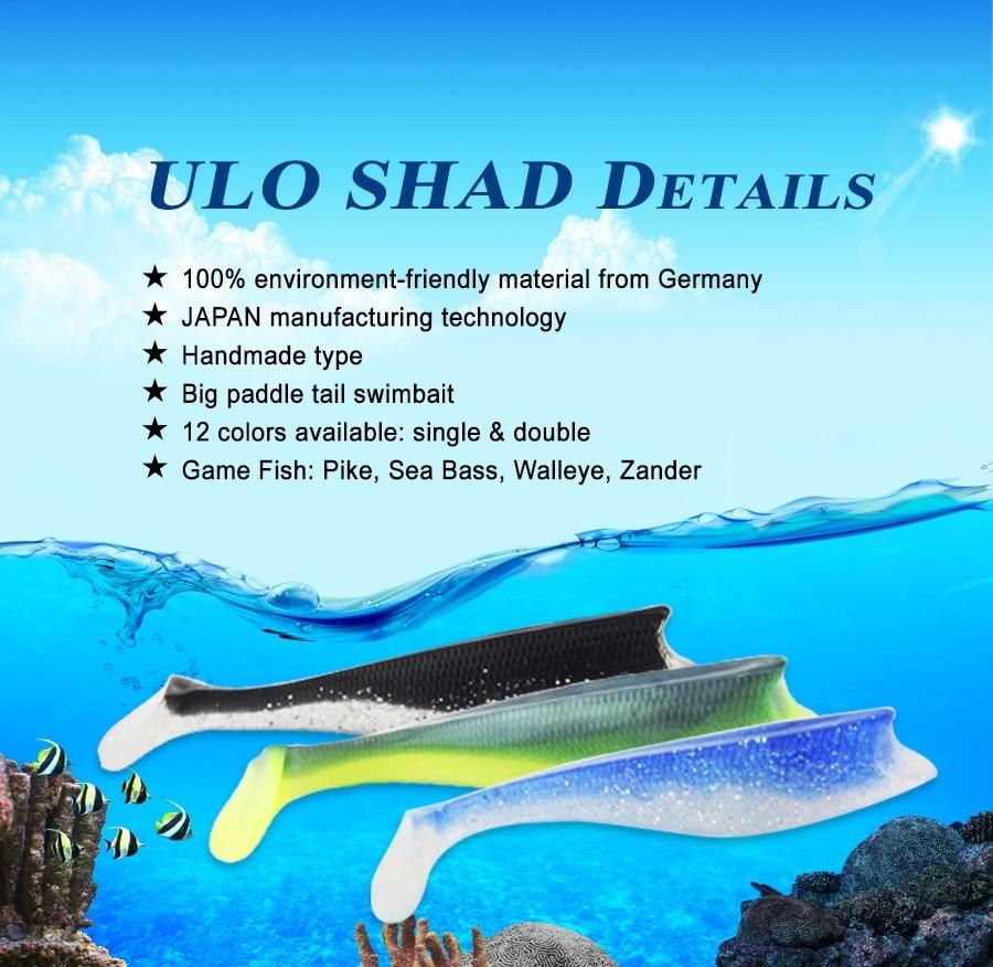 Leurres souples type Ultimate Ultishad14 cm vendu par 3pcs