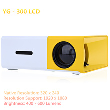 Mini Portable Design Projector Concise Efficient Compact  YG300 YG-300 LCD Projector 400-600 LM 320x240 Pixels Home Media Player