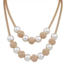 Pearl necklace 콜리어 femme collares 문 다층 숨 막히게 문 jewelry women Simulated 펄 necklaces & pendants(China)