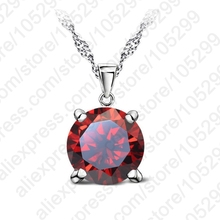 JEXXI CZ Crystal Chain Necklaces  925 Sterling Silver Pendant Necklace  Fashion Brand Crystal Party/ Wedding Jewelry For Women