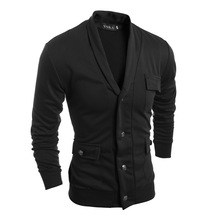 autumn winter men fashion V-neck pocket sweater cardigans men casual warm sweater cardigans
