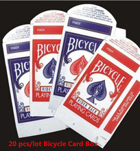 20 pcs/lot Bicycle Card Box ( Red or Blue available) - Close Up Magic, Magic Trick(China)