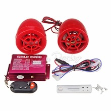 Motorcycle Red Audio Anti-theft Alarm Speaker USB MP3 TFcard FM Radio player Motorbike Audio system scooter Stereo Amplifier