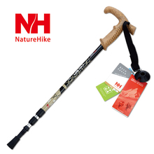 Naturehike mountaineering walking Sticks POINT BREAK  Professional Climbing Rod aluminum alloy  Shock Absorption System Walking