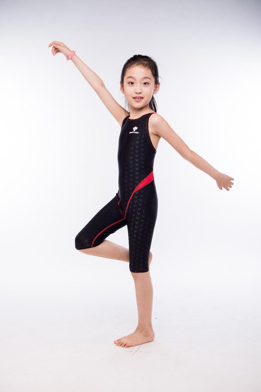 One Piece Childrens Professional Swimsuit Girls Waterproof SharkSkin Sport Swimwear Little Girls Surf Beach Body Bathing Suit<br>