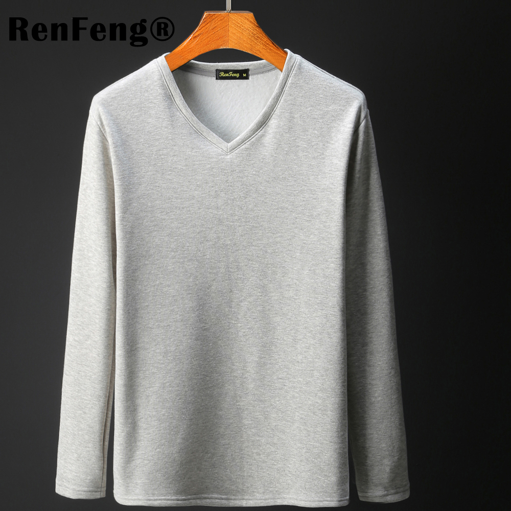 3 Colors Plus Size M-3XL Summer&Autumn Fashion Casual Slim Elastic Soft Solid thicken Long Sleeve Men T Shirts Male Fit Tops Tee (1)