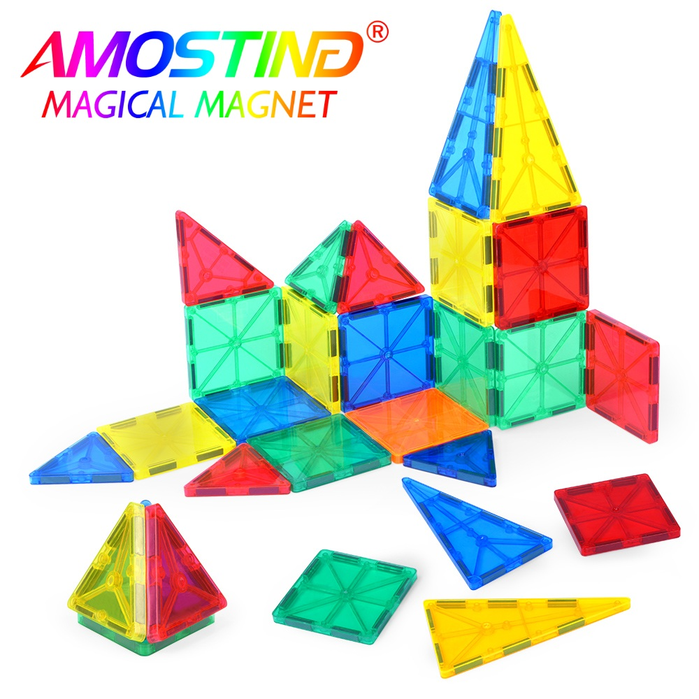 32PCS Magnetic Model Building Blocks Brick Magnetic Educational Toys Kids Enlightenment Toys Children Kids Gifts Rainbow Color<br>