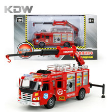 KDW 1:50 Cars Toy Fire Engine Model Fire Truck Diecast Models Alloy Engineering Toy Vehicle Sliding Car Kids Boy Gift Children(China)