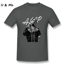 Graphic T-Shirt Men ASAP Rocky Short Sleeve Hipster Fitness Tops Adult Shirts Plus Size(China)