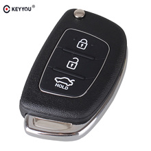 KEYYOU 3 Buttons Flip Folding Remote Key Shell Fob Key Case For Hyundai Mistra ix35 ix45 Series 2 Verna(China)