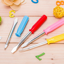 3Pcs / Lot Cute Color Kawaii ballpoint Pen Screwdriver pen tool school supplies Stationery novelty item gifts prize