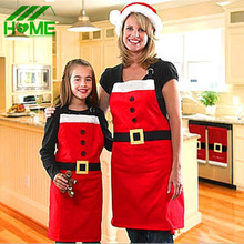 Cute Cotton Christmas Santa Claus Apron Navidad Natal Patterns Funny Sexy Women Kids Child Chef Cooking Kitchen Dinner Aprons(China)