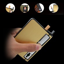 Automatic Metal Rechargeable Cigarette Case USB Electronic Lighter Box Windproof Cigarette Case for Cigarette Men Lighter