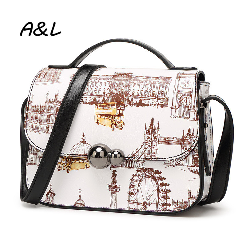 Fashion Cute Printing Women Crossbody Bag Ladies Small Shoulder Messenger Bag Brand Designer PU Leather Handbag for Girls A0104<br><br>Aliexpress