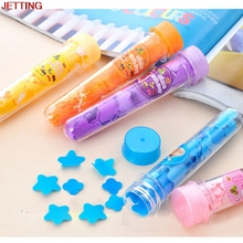 JETTING-1pcs Lovely Scented Bath Soap Flakes Hot Selling Portable Tube Petals Soap Travel Soft Soap