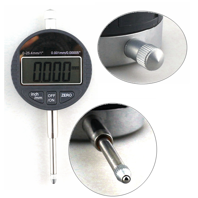 0-25.4mm/1 Electronic Depth Gauge Digital Micrometer 0.001mm Micrometro Thickness Measuring Gauge<br>