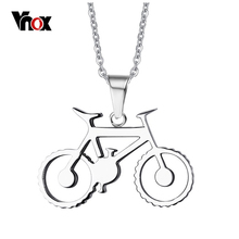 "Vnox Punk Men's Bike Necklace Stainless Steel Bicycle Necklaces & Pendants Free Chain 20""(China)"