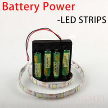 Hot sale Dry Battery Powered DC5V LED Strip SMD5050 Waterproof Flexible LED Strips String Light
