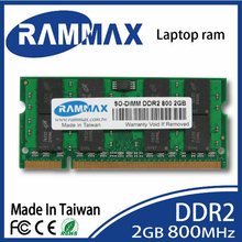 New sealed Laptop ddr2 Memory Ram 2GB SO-DIMM 800Mhz/PC2-6400/200-pin work with all brand motherboards of Notebook free shipping