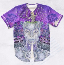 Real AMERICAN USA Size Custom Made Erykah Badu ashion 3D Sublimation Print  Baseball Jersey Plus Size