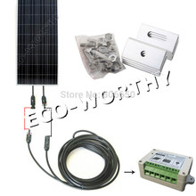New USA Stock 150 Watt COMPLETE KIT Off Grid system PV Solar Panel for 12V battey for RV Boat *(China)