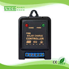 JNGE Brand Intelligent 5A 6V 12V Mini Solar Charge Controller PWM Solar Panel Light Controller Battery Charge Regulator(China)