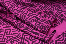 2015 summer style silk and wool  heavy printing Silky  beautiful Rose 1.14 m wide  95 cloth fabric patchwork (1 meter)