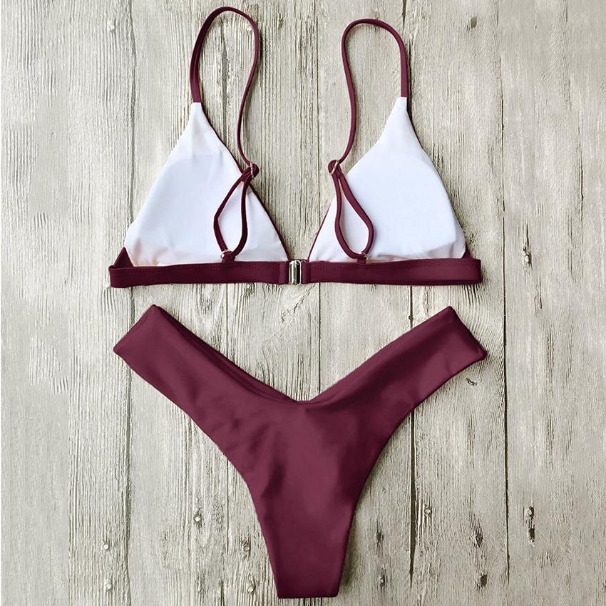 Hot Sexy Bikini 18 bandeau Swimsuit Thong Swimwear Women Bikinis Push Up Red Bikini Set brazilian Biquini Female Bathing Suit 32