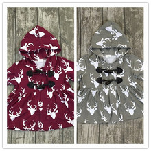 baby girls Fall boutique clothing children girls Jackies girls gery jackies marron Jackies 2 colors in stock girls boutique tops(China)