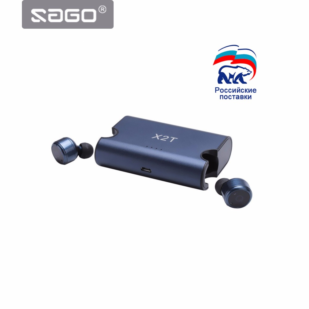 In-Ear Portable True Wireless Earbuds TWS X2T Mini Bluetooth 4.2 Earphone 1500mAH Charger Box for iphone and andriods<br>