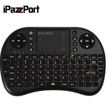 M2S High Quality 2.4GHz Wireless QWERTY Keyboard Touchpad with Receiver for HTPC PS3 Xbox360 RUSSIAN OR ENGLISH VERSION(China)