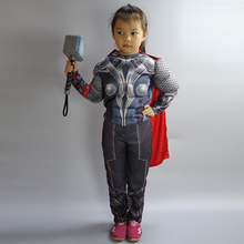 The Avengers Thor Classic Muscle cosplay Child Captain America costumes Boys Iron Man Cosplay Kids Carnival party cosplay